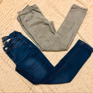 Lot of 2 girls skinny jeans size 7